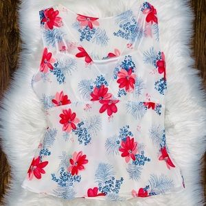 floral sleeveless Blouse with Cami